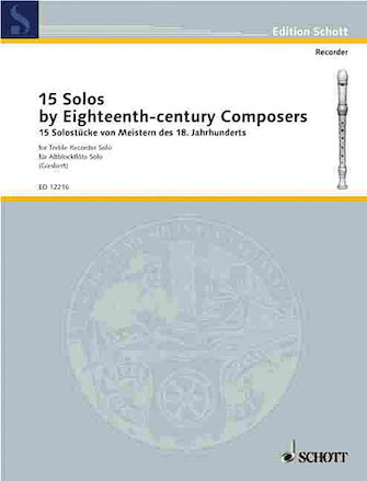 Product Cover for 15 Solos by Eighteenth-Century Composers