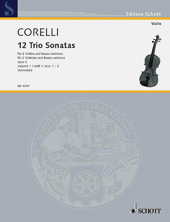 Product Cover for Trio Sonatas Op. 3, Nos. 1-3