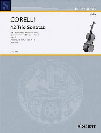 Product Cover for Trio Sonatas Op. 3, Nos. 4-6