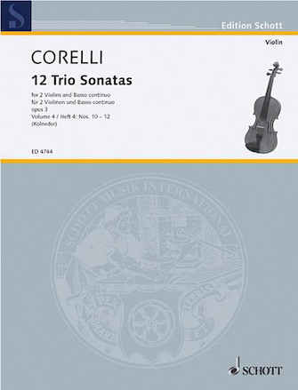 Product Cover for Trio Sonatas Op. 3, Nos. 10-12