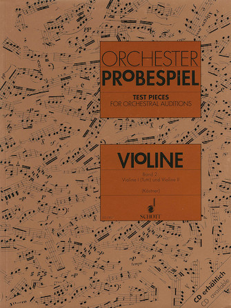 Test Pieces for Orchestral Auditions – Violin Volume 2