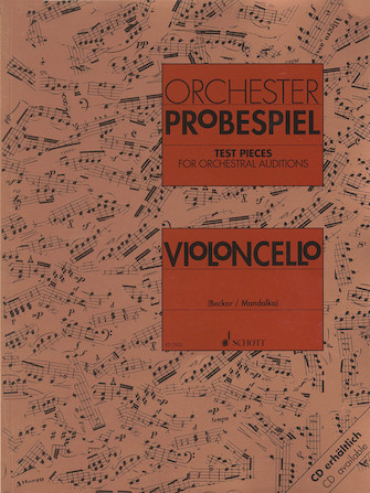 Product Cover for Test Pieces for Orchestral Auditions – Violoncello
