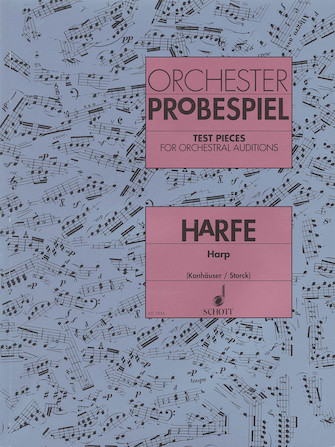 Product Cover for Test Pieces for Orchestral Auditions Harp