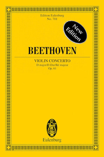 Product Cover for Violin Concerto in D Major, Op. 61 – New Edition