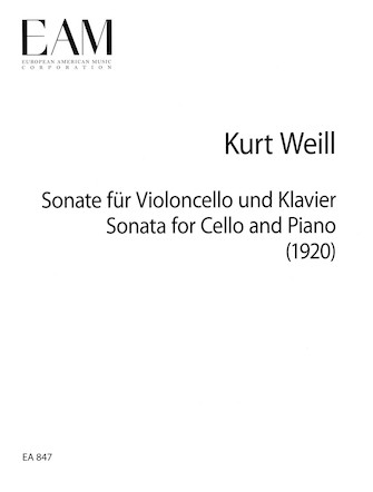 Product Cover for Sonata for Cello and Piano (1920)