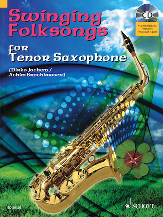 Product Cover for Swinging Folksongs Play-along For Tenor Saxophone Bk/cd With Piano Parts To Print