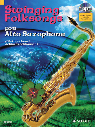 Product Cover for Swinging Folksongs Play-along For Alto Saxophone Bk/cd With Piano Parts To Print