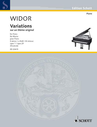 Product Cover for Variations on an Original Theme in E minor, Op. 1