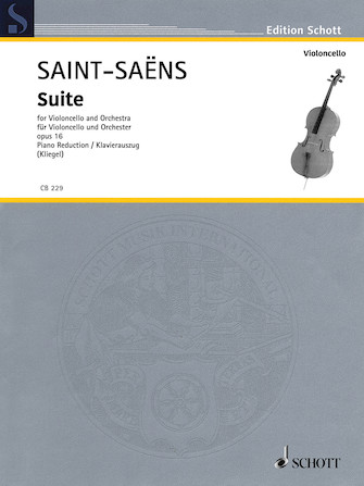 Product Cover for Suite in D-minor Op. 16 for Cello and Orchestra