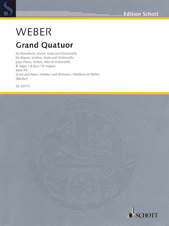 Product Cover for Grand Quatour in B-flat Major, WeV P.5
