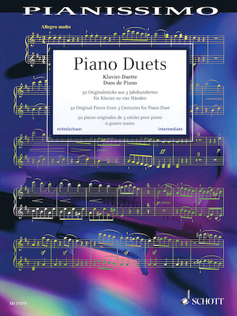 Product Cover for Piano Duets: 50 Original Pieces from 3 Centuries