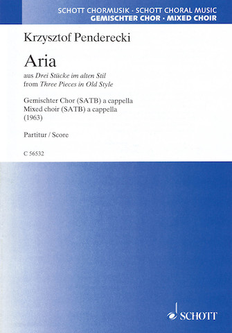 Product Cover for Aria from 'Three Pieces in Old Style'