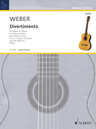 Product Cover for Divertimento Op. 38, WeV P. 13