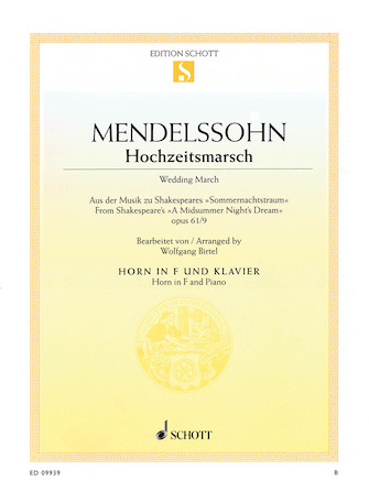 "Product Cover for Wedding March Op. 61, No. 9 from ""A Midsummer Night's Dream"""