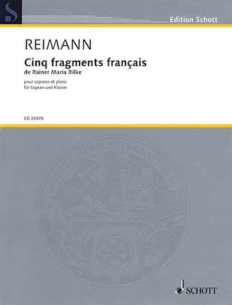 Product Cover for Cinq Fragments Francais de Rainer Maria Rilke