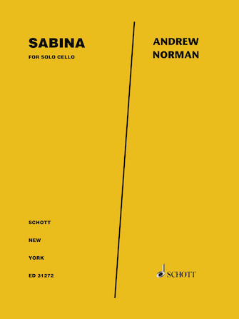 Product Cover for Sabina for Solo Cello