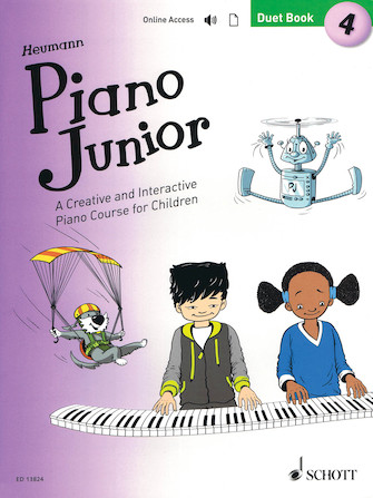 Product Cover for Piano Junior: Duet Book 4