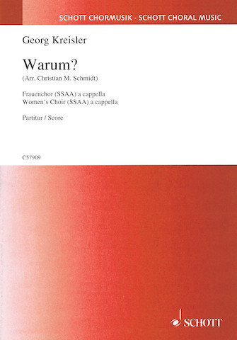 Warum? Lieder and Chansons SSAA and Piano