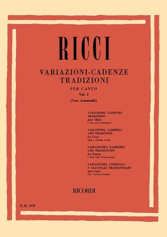 Product Cover for Variazioni appendi (all voices): Traditional Cadenzas