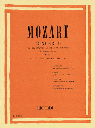 Product Cover for Concerto in A Major for Clarinet and Orchestra, Op. 107, K622