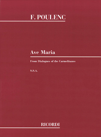 Product Cover for Ave Maria SSA From Dialogues Of The Carmelites