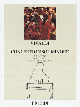 """Product Cover for Concerto in G Minor for Flute Strings and Basso Continuo """"La Notte,"""" Op.10 No2, RV439"""