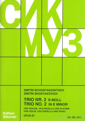 Product Cover for Trio No. 2, Op. 67