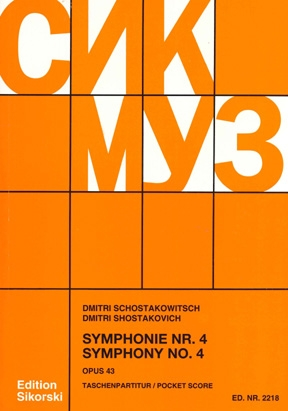 Product Cover for Symphony No. 4, Op. 43