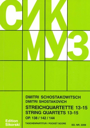 Product Cover for String Quartets, Nos. 13–15 (Op. 138, 142, 144)