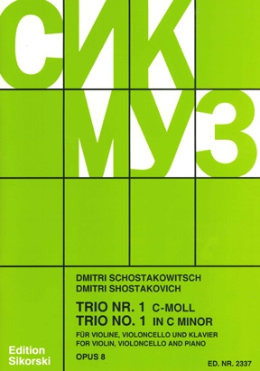 Product Cover for Trio No. 1, Op. 8
