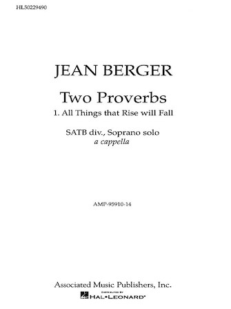 Product Cover for All Things That Rise Will Fall From '2 Proverbs'