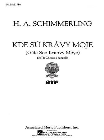 Product Cover for Kde Su Kravy Moje A Cappella