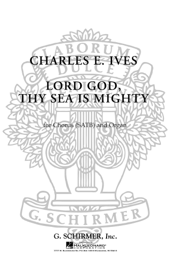 Product Cover for Lord God Thy Sea Is Mighty