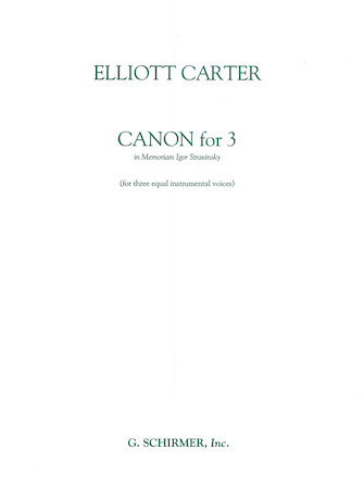 Product Cover for Canon for 3 – In Memoriam of Igor Stravinsky