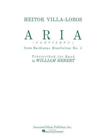 Product Cover for Aria (Cantilena) from Bachianas Brasilieras No. 5