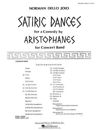 Product Cover for Satiric Dances Concert Band Full Score
