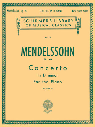 Product Cover for Concerto No. 2 in D Minor, Op. 40