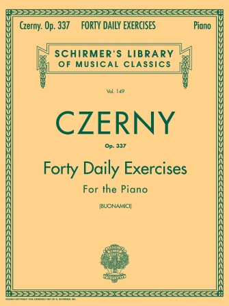 Product Cover for Czerny – 40 Daily Exercises, Op. 337
