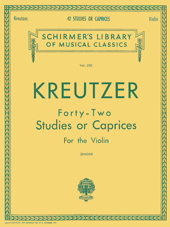 Product Cover for Kreutzer – 42 Studies or Caprices