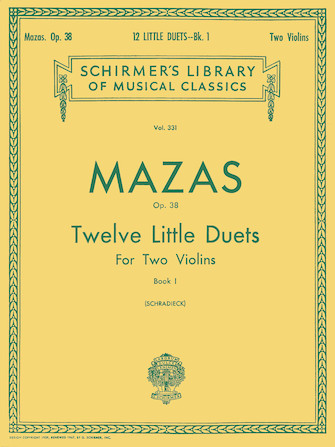 Product Cover for 12 Little Duets, Op. 38 – Book 1
