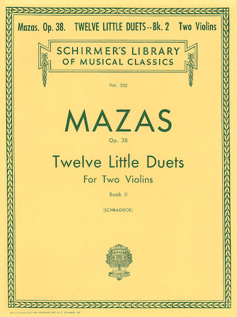 Product Cover for 12 Little Duets, Op. 38 – Book 2