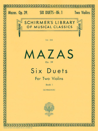 Product Cover for 6 Duets, Op. 39 – Book 1