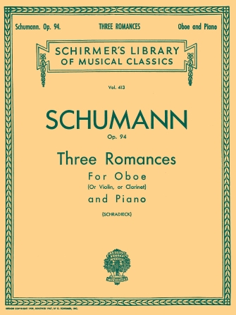 Product Cover for Three Romances, Op. 94