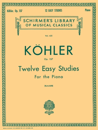 Product Cover for 12 Easy Studies, Op. 157