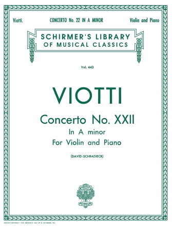 Product Cover for Concerto No. 22 in A Minor