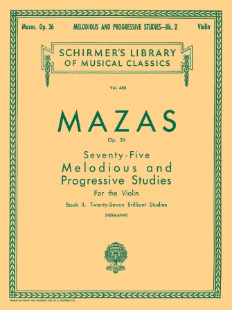 Product Cover for 75 Melodious and Progressive Studies, Op. 36 – Book 2: Brilliant Studies