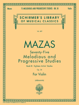 Product Cover for 75 Melodious and Progressive Studies, Op. 36 – Book 3: Artist's Studies