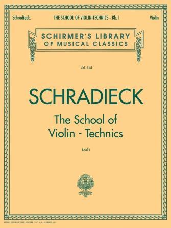 Product Cover for School of Violin Technics – Book 1