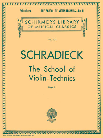 Product Cover for School of Violin Technics – Book 3