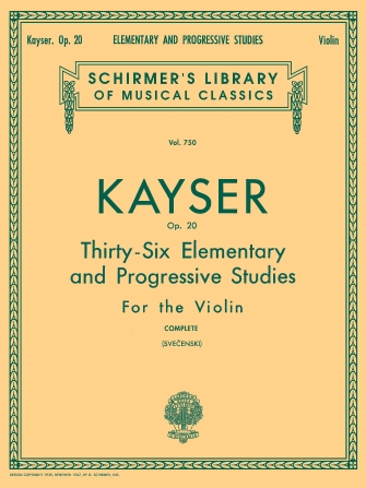 Product Cover for Heinrich Ernst Kayser: 36 Elementary and Progressive Studies, Complete, Op. 20